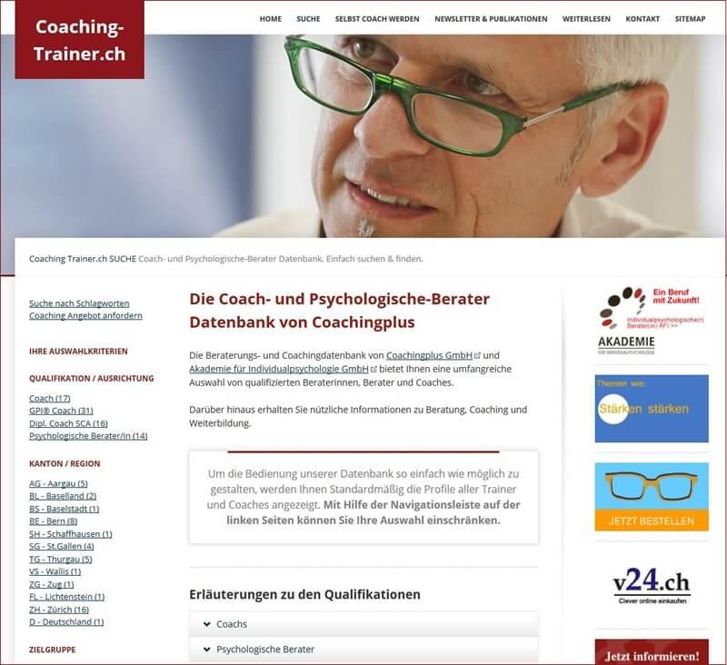 Einen Coach finden - Verzeichnis