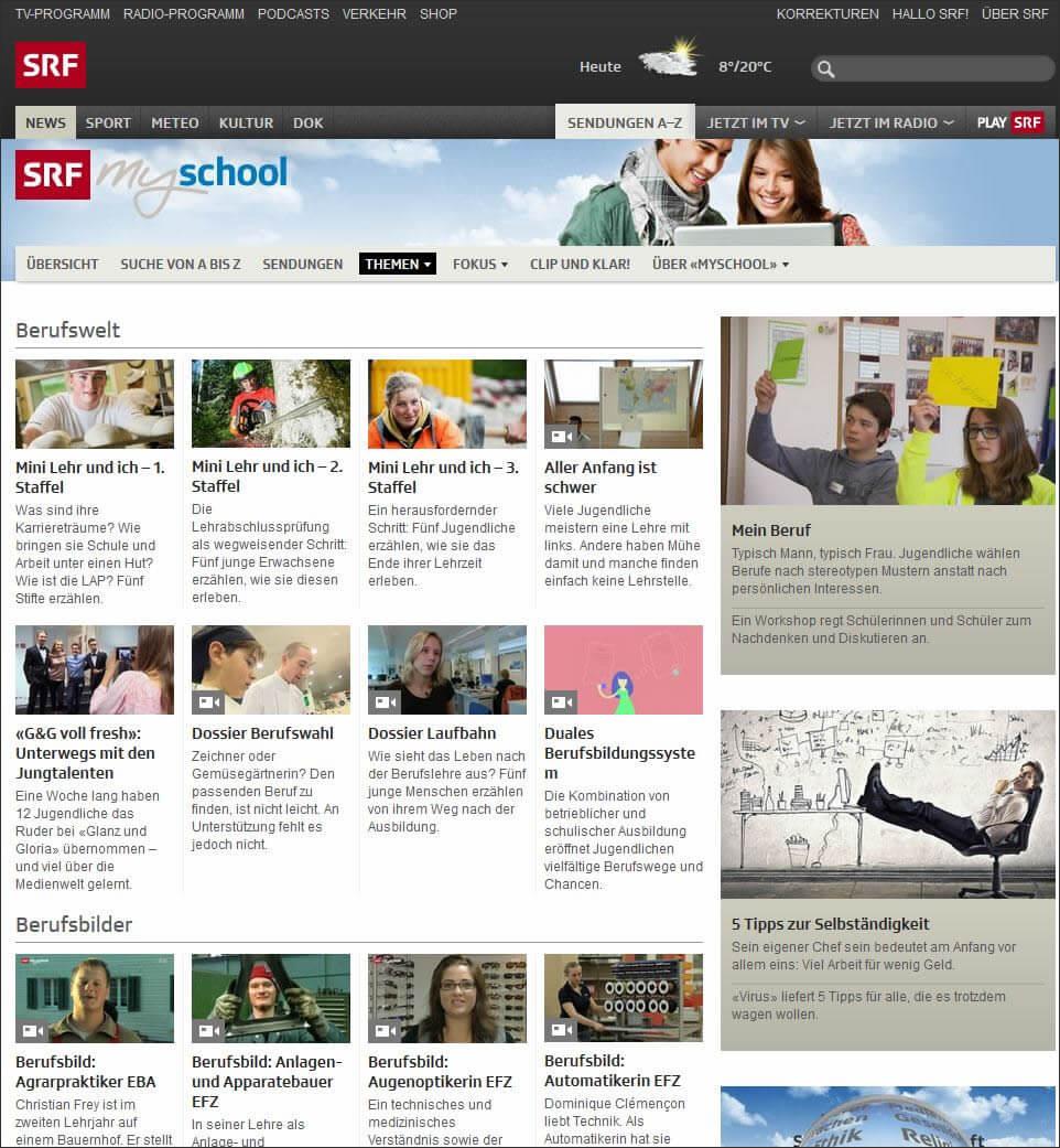 SRF Schulfernsehen: Lernberufe entdecken