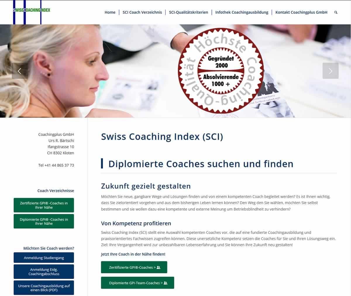 Swiss Coaching Index: Einen Coach suchen und finden